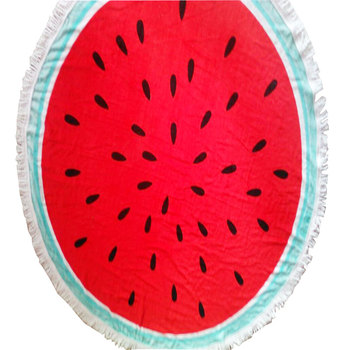 trendy double size round watermelon beach towel cotton on
