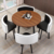 MDF table top metal foot round shape dining table set