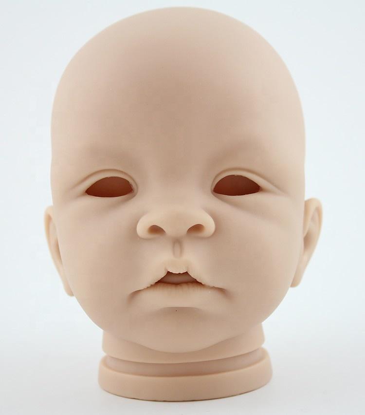 "Soft Vinyl Reborn Baby Kit Head Arms Legs for 14/"" Reborn Baby Doll"