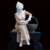Outdoor life size garden stone marble lady girl statue sculpture