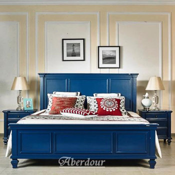 Noble Blue Color Bedroom Sets,Deep Blue American Style Bed - Buy Unique  Pure Blue Colored Bedroom Sets,Country Style Bedroom Set,2016 New Style ...