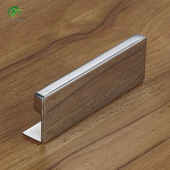 Furniture Hardware Cabinet Kitchen Long Chrome Edge Finger Pulls Handles Embedded Door Pull Handle Aluminum