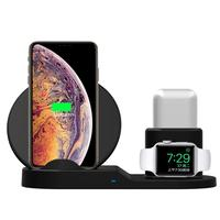 FancyTech 3-in-1 wireless charger bracket QI wireless charging dock for mobile phone headset watches