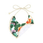KD-004-WXG Wholesale Double layers Orange green cactus lace baby bibs