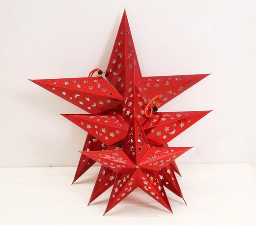 Meilun Art Crafts Xmas Decoration 3d Flashing Hanging Star Paper Lantern Wedding Decoration Christmas Decoration Buy Star Paper Hanging 3d Paper