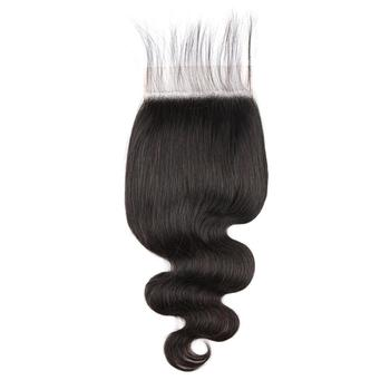 Best selling products body wave 5x5 top closure human hair raw vietnam hair