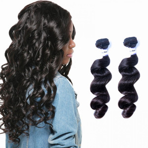 Guangzhou gs hair company natural color Wholesale 10A Full Cuticle Aligned Loose Deep Wave Thick Ends Mink Brazilian Virgin Hair