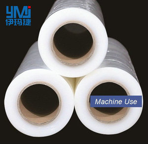Eager to gain 15kg Net Weight 1 Roll Wrapping machine use LLDPE stretch film, pallet PE stretch film