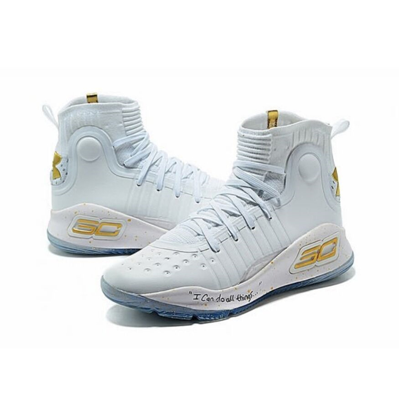 Custom Logo stephencurry30 Curry 4 Basketball Shoes Athletic Shoes Men Curry4 Sport Basket Sneakers Tenis Kicks free shipping