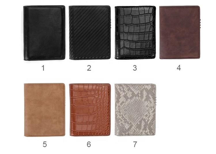 Minimalist RFID Blocking Leather Pop-up Card Wallet for Men