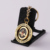 Zinc alloy custom 2D  gold plated paint rotating pendant keychain key ring