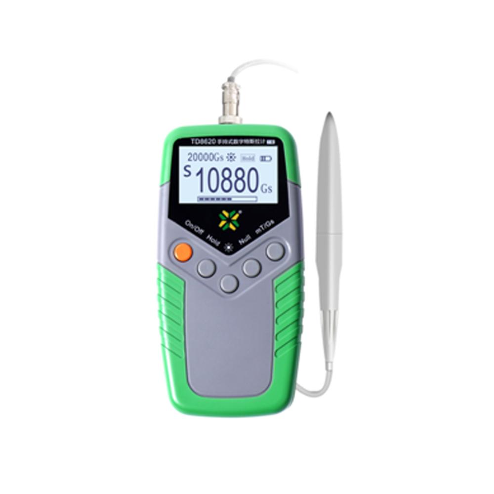 Handheld gaussmeters magnetometer measure magnetization or magnetic field strength in gauss or tesla units