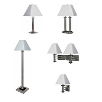 classic hotel stainless steel lighting with table floor lamp store wholesale lamp set