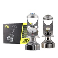 Y6 Factory Supply NEW Auto LED Headlights Bulb Car Lamp With Lens Projector 5500K White Light Top Quality CANBUS H4