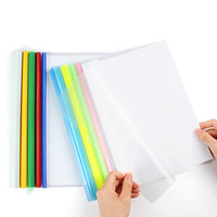 Wholesale Thickening Pull Rod Clip Transparent Plastic Folders A4 A4 Hardcover File Folder For Office Supplies