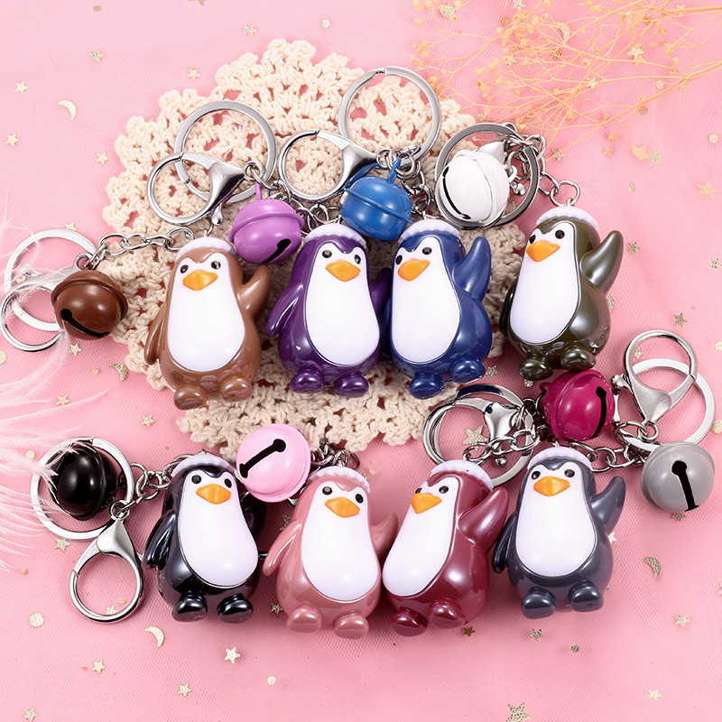 Little penguin key chain <strong>gifts</strong> creative <strong>cute</strong> penguin keychain keyring for men and women classmate birthday <strong>gift</strong>