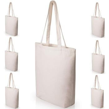 Women Men Foldable Canvas Cotton Reusable Shopping Grocery eco shopping bag