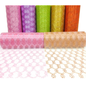 15*10yards Cheap Colorful Organza Tulle Roll fabric for Decoration