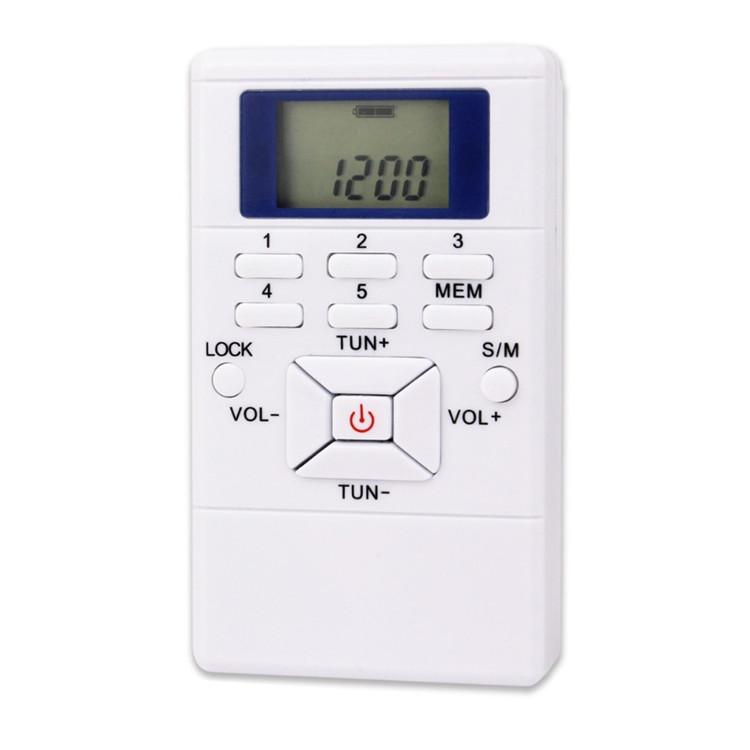 Conference Use High Sensitive Preset Channel DSP Digital Portable Mini FM Radio, Grey;white;red;black;blue etc..