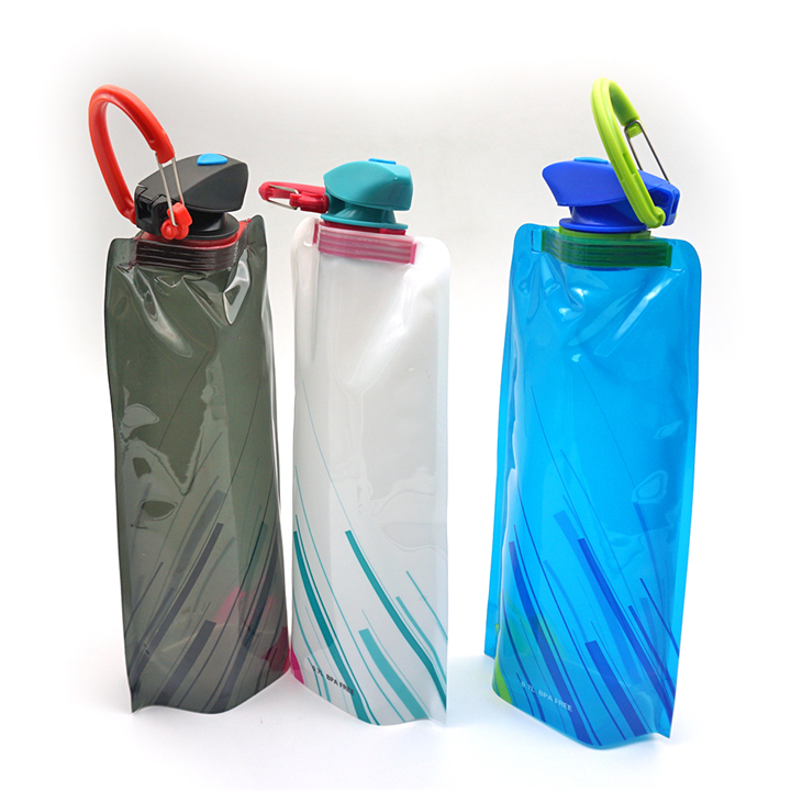 Eco friendly reusable travel <strong>sports</strong> drinking thumbler bag cup portable foldable collapsible water bottle
