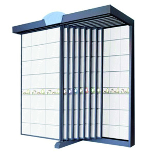 High end commercial slide with wheels ceramic tile display rack