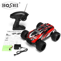 HOSHI S737 RC Truck 1/16 PVC 2.4Ghz 4WD Off-Road Brushed Remote Control Car Toy Vehicle US Plug Climbing Powerful Mot
