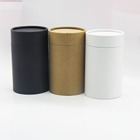 white black brown kraft cardboard cylinder jar round paper box paperboard tube packaging