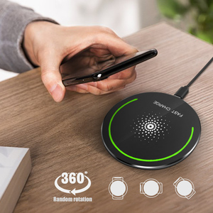 2019 10W Qi Wireless Charger for iPhone X XS XR 8 Plus Fast Wireless Charging Pad for Samsung S8 S9 S10 for Xiaomi mi 9 Charger