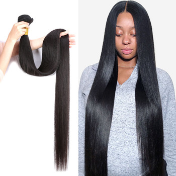 Wholesale 8a Grade Cuticle Aligned Vendors Raw Virgin Brazilian hair bundles Long 40 inch Body Wave Human Hair in mozambique