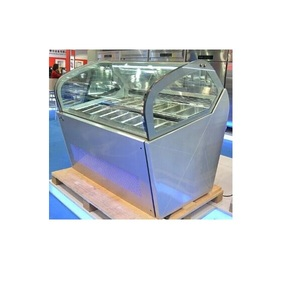 Fan Cooling System Famous Brand Compressor Gelato Display Freezer for Ice Cream