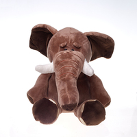 Cartoon 50cm 70cm 90cm Brown Down cotton soft fabric cute Elephant for baby kids sleep