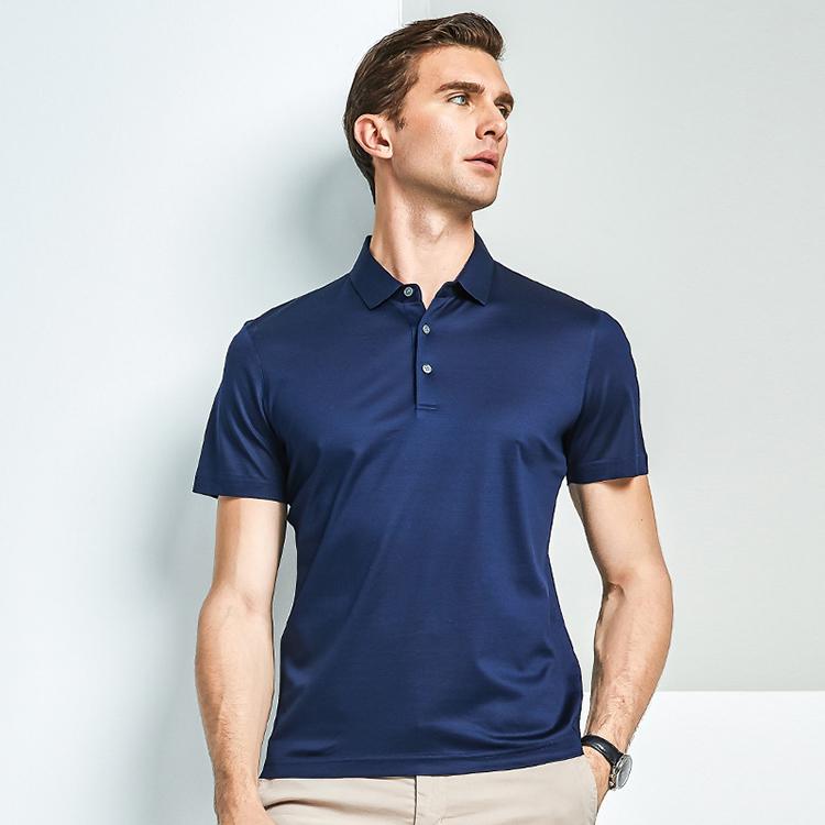 Polo T Shirt 100% Polyester Men's Sweat Absorption Sports Polo Shirt фото