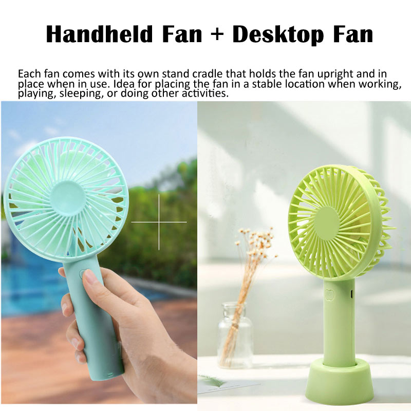 Wholesale Portable Mini USB Rechargeable Handheld Fan Handfan Standing Personal Cooling Mini Electric Battery Hand Fan
