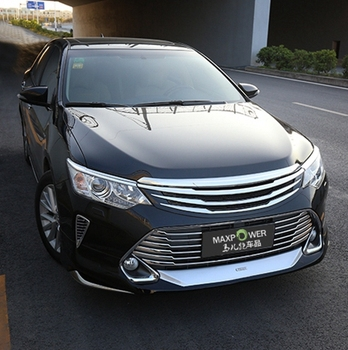 ABS Material Grille Modify Front Grilles Shiny Front Center Mesh Grills  For Toyota Camry 2015 2016