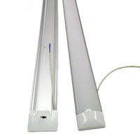 LED Batten Low Profile Wide Tube Wall and Ceiling Light 4ft 40w