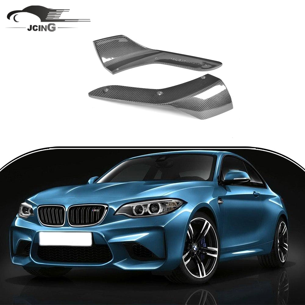 In Fibra di carbonio Paraurti Anteriore Splitter per BMW F87 M2 Base Coupe 2016-2017