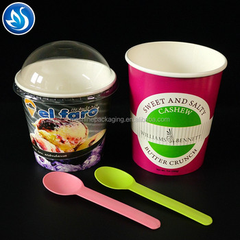 Recycled paper double coated frozen yogurt cup ice cream cup
