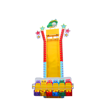 Stimulating game safe frog tower ride frog jump children rides