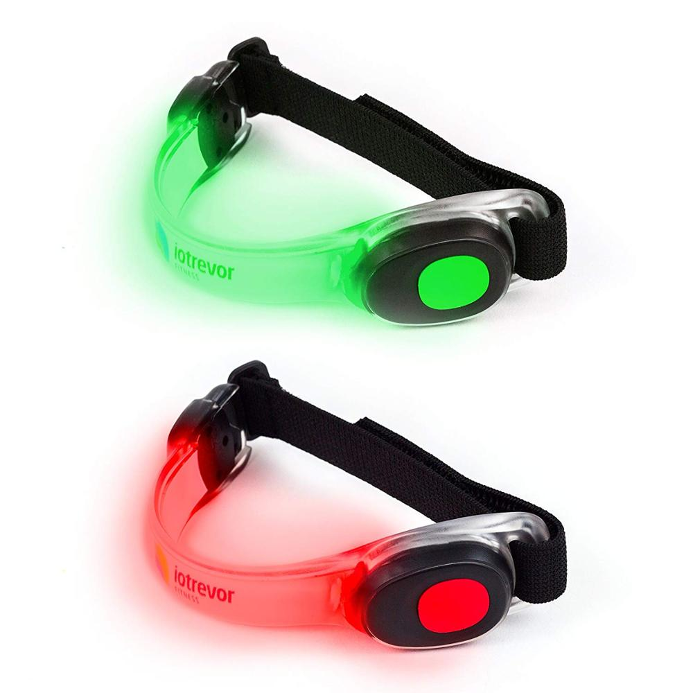 Reflective LED Sports Armband Flashing Safety Ankle Band Light for Running Cycling or Walking At Night