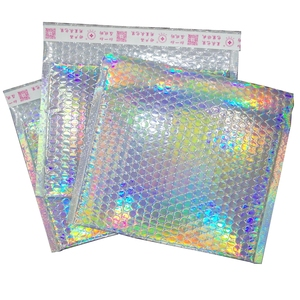 Hologram Shiny Foil Metallic Glamour Holographic Mailers Padded Shipping Bag Aluminium Foil Poly Mailer Express Bag