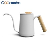 Long Narrow Spout Coffee Pot Gooseneck Kettle Stainless Steel Hand Drip Kettle Pour Over Coffee and Tea Pot