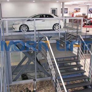 in floor hydraulic electric scissor car lift for underground basement