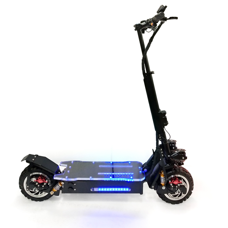 2019 FLJ newest 11inch Off Road (SUV) Electric Scooter with wing lights 3200w 60v electric scooters powerful adult from China, Black