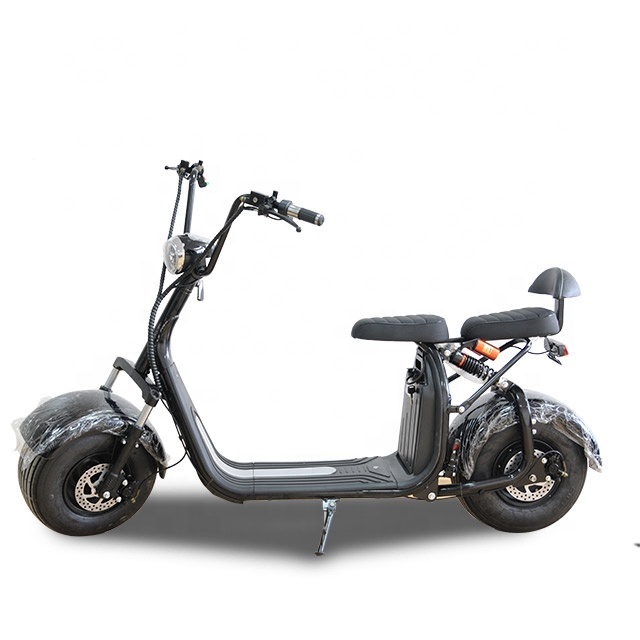 3pluscoco High Speed lithium battery Citycoco 1500w Electric scooter kick scooter shop russia, Red;black;yellow;white;britan;green