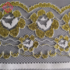 French Polyester+Gold thread fabric nonelastic narrow lace trim