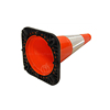 customized reflective collars Fluorescent Road Mark various size traffic cone