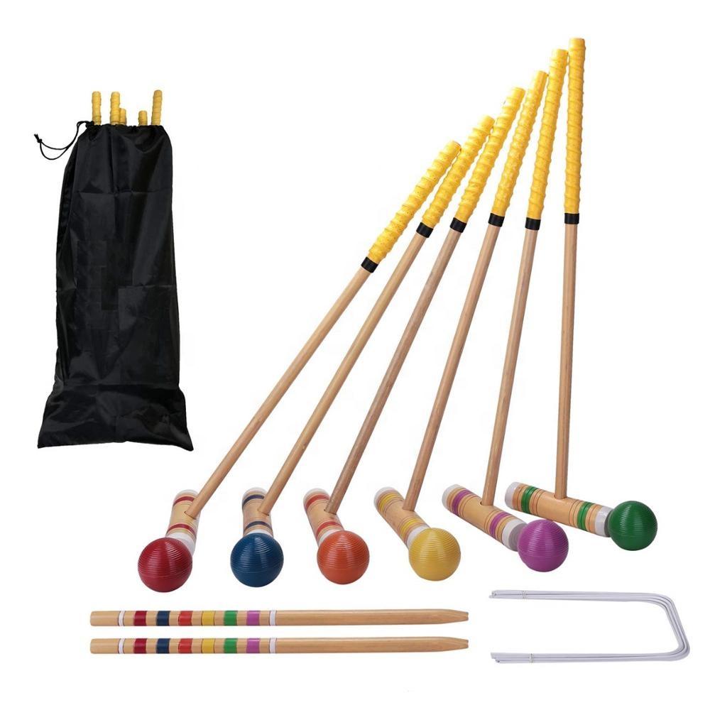 Popular backyard games wooden croquet set artificial grass croquet