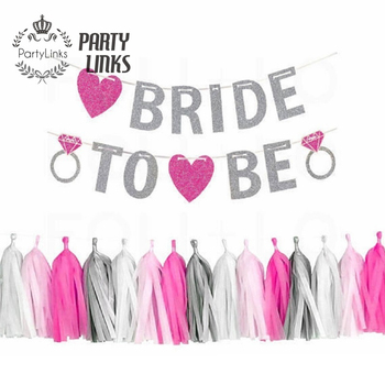 Yiwu Bridal Shower Decor Letter Banner Diy Bride To Be Bachelorette Party Supplies