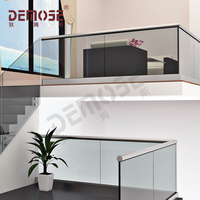 Demose railing aluminum channel glass and u channel Stair Railings / Handrails
