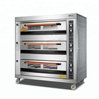 Automatic Commercial Gas Bread 3 Deck Bakery Oven